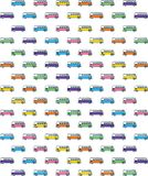 VW Vintage Pattern. Vector Illustration Stock Photo