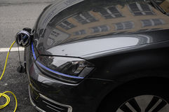 VW VOLKE WAGEN ELECTRICAL CAR. 17 October 2016_ Copenhagen_Denmark.  Electric VW Volks Wagen parked for recharge battery      Photo. Francis Joseph Dean/ Royalty Free Stock Photo