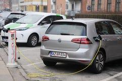 VW VOLKS WAGEN  ELECTRIC AUTO Stock Photos