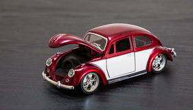 VW Volkswagen Beetle модели игрушки масштаба Стоковые Изображения RF