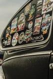 VW WHEEL TIRE NUT TURBO. SPORT WHEEL TIRE NUT FENDER BUMPER CAR LENS SPOILER DOOR RING CHROME BLACK VW VOLKS WAGEN STEERING STRIPS STREETS Stock Photos