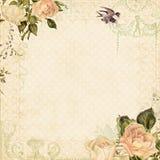 växten för torra blom- grungy leaves för bakgrund befläckte den gammala paper tappning Royaltyfri Fotografi