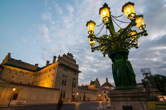 Vyšehrad in Prague. Vyšehrad area in Prague, the oldes gas lantern in the city Royalty Free Stock Images