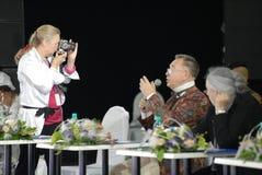 Vyacheslav Zaycev sulla parata di modo dell'allievo Fotografia Stock