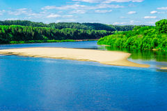 Vyatka river view Royalty Free Stock Images