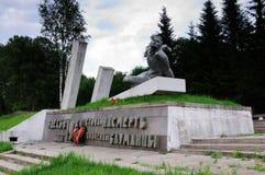 Memorial to militiamen-Baumans, the city of Vyazma, Smolensk region. Vyazma, Russia - June 30, 2011: Memorial to militiamen-Baumans, the city of Vyazma, Smolensk stock images