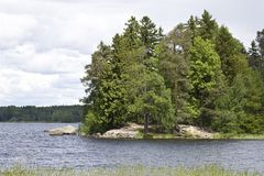 Vyborg。 星期一Repos公园 免版税图库摄影