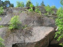 Vyborg Βράχοι Vysokie στο πάρκο Mon Repos Στοκ φωτογραφίες με δικαίωμα ελεύθερης χρήσης