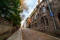 Vyborg, παλαιές οδοί Στοκ Φωτογραφίες
