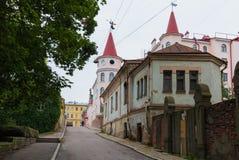 Vyborg, ΡΩΣΙΑΣ - 10 Σεπτεμβρίου, 2017: Οι αρχαίες οδοί Vyborg Rainy ημέρα φθινοπώρου στοκ εικόνα με δικαίωμα ελεύθερης χρήσης