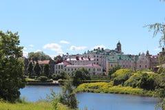 Vyborg Beskåda av staden Arkivfoto