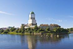 Vyborg, castello Fotografia Stock