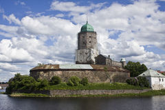 Vyborg castle. Built in 1293. It stays on the small island in the river Vuoksa Stock Photo