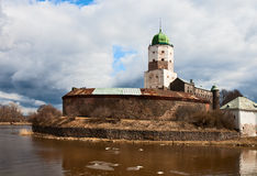 Vyborg Castle in the early spring Royalty Free Stock Images