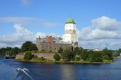Vyborg castle Stock Images