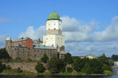 Vyborg castle Stock Photos