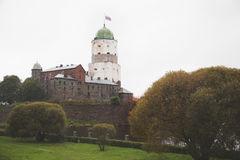 Vyborg Castle. Olaf Tower Royalty Free Stock Photography