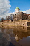 Vyborg Castle in a sunny spring day Stock Photo
