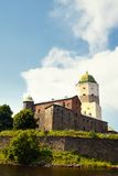 Vyborg Castle in sunset light Royalty Free Stock Image