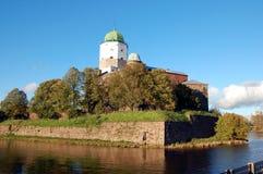 Vyborg castle in Vyborg city Royalty Free Stock Photo
