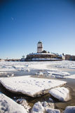 Vyborg castle winter Royalty Free Stock Image