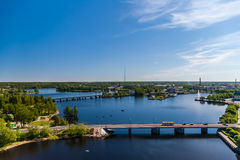 Vyborg city panorama Stock Image