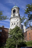 Vyborg. Clock tower. Build in 1494, modern shapes since 1754 Stock Image