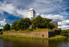 The Vyborg fortress. An ancient swedish fortress in Vyborg Royalty Free Stock Photos