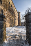 Vyborg fortress at sunset in winter Royalty Free Stock Photography