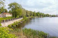 Vyborg Het noordenhaven stock fotografie