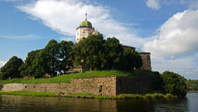 Vyborg Kasztel Zdjęcia Stock