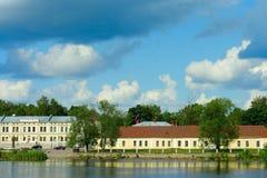 Vyborg, la vista dal ponte del castello Immagini Stock Libere da Diritti