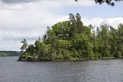 Vyborg. Mon Repos park. Vyborg. Is;and on the lake in Mon Repos park Stock Image