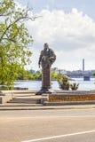 Vyborg Monument aan Admiraal Apraksin stock fotografie