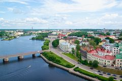 Vyborg olaf tower view Stock Photography
