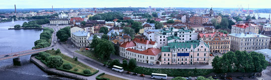 Vyborg - panorama Stock Image