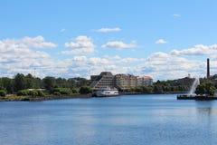 Vyborg Panorama Royalty-vrije Stock Foto