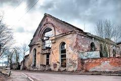 Vyborg Rússia As ruínas do último monastério dominiquense fotos de stock