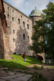 Vyborg, Rússia, em agosto de 2016: Castelo histórico e arquitetónico da Museu-reserva Foto de Stock Royalty Free