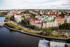 Vyborg, Rússia, em agosto de 2016: Castelo histórico e arquitetónico da Museu-reserva Fotos de Stock