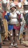 VYBORG, RÚSSIA - JULHO 31: Homens não identificados em um kn Imagem de Stock Royalty Free