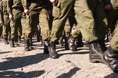 VYBORG, RUSIA - MAYO 08,2012: desfile del día de la victoria Fotografía de archivo