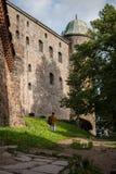 Vyborg, Rusland, Augustus 2016: Historisch en Architecturaal museum-Reserve Kasteel Royalty-vrije Stock Foto