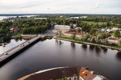 Vyborg, Rusland, Augustus 2016: Historisch en Architecturaal museum-Reserve Kasteel Royalty-vrije Stock Fotografie