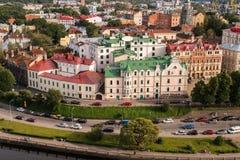 Vyborg, Rusland, Augustus 2016: Historisch en Architecturaal museum-Reserve Kasteel Stock Fotografie