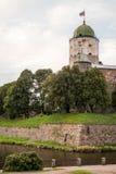Vyborg, Rusland, Augustus 2016: Historisch en Architecturaal museum-Reserve Kasteel Royalty-vrije Stock Foto's