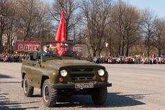 VYBORG, RUSLAND - MEI 08.2012: de Parade van de overwinningsdag Royalty-vrije Stock Foto