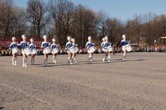 VYBORG, RUSLAND - MEI 08.2012: de Parade van de overwinningsdag royalty-vrije stock fotografie