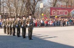 VYBORG, RUSLAND - MEI 08.2012: de Parade van de overwinningsdag Stock Fotografie