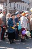 VYBORG, RUSLAND - MEI 08.2012: de Parade van de overwinningsdag Royalty-vrije Stock Afbeelding